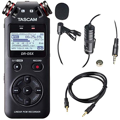 Tascam DR-05X 2-Input / 2-Track Portable Handheld Digital Audio Recorder