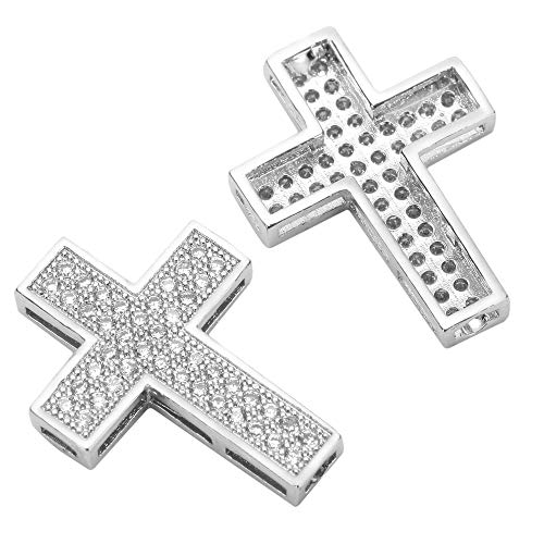 1pc Top Quality Silver Hope Faith Charm Cross Charm Connector with Diamond Simulants MCAC09 Diamond Cut Animal Charm