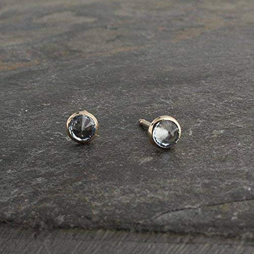5583bd954 Amazon.com: Gold Filled Stud Earrings, Sky Blue Topaz Stone Studs, Gold  Studs, Dainty Earrings, Minimalist Earrings, Stud Earrings, Handmade Tiny  Earrings ...