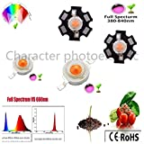 Halica 20/50/100pcs 1W 3W 400nm-840nm Full Spectrum led Grow Light chip, led Plant