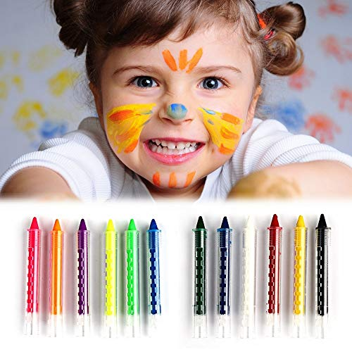 Ladybug Shine - 6 Colors Face Painting Crayon Pencils Splicing Face Paint Body Painting Pen Stick for Children]()