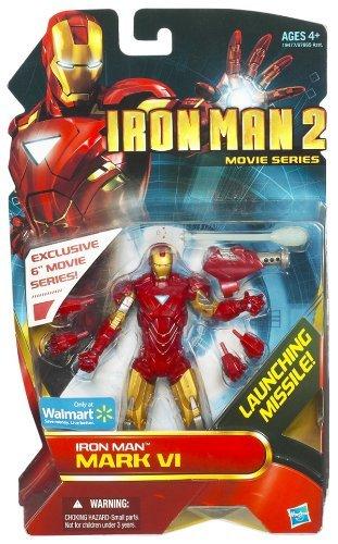 Hasbro Iron Man 2 Movie Series Iron Man Mark VI Exclusive Action -
