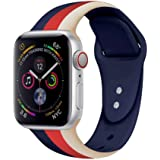 iDream365 Band Compatible with Apple Watch 38mm 40mm,Soft Silicone Fadeless Pattern Printed Replacement Floral Bands for iWat