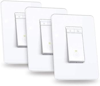 3-Pack TP-LINK Kasa Smart WiFi Dimmer Light Switch