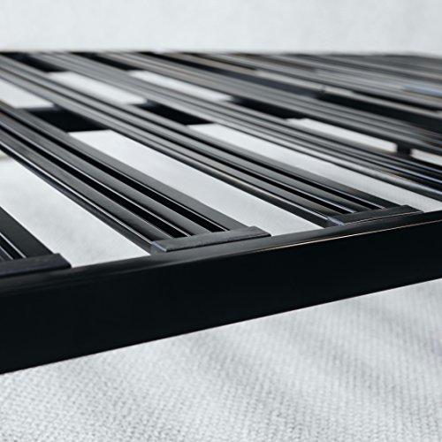 Best Price Mattress King Bed Frame - 14 Inch Metal Platform Beds [Model C] w/ Steel Slat Support (No Box Spring Needed), Black