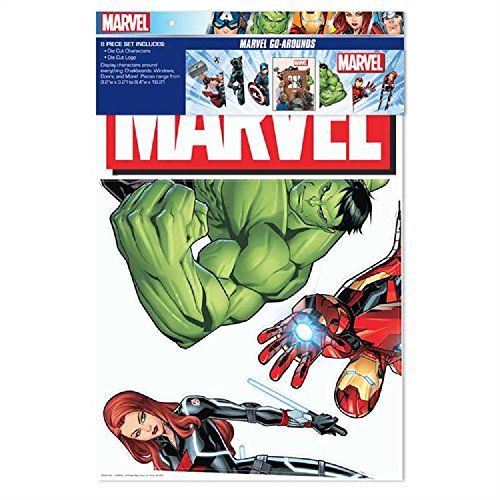 Eureka Back to School Marvel Avengers Door and Window Go-Around Classroom Decorations for Teachers, 18'' x 0.125'' x 28'',  1pc.