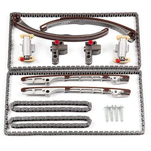 ECCPP TK10570 Timing Chain Kit Tensioner Guide Rail Fits For 03-08 Jaguar S-Type 4.2L V8 DOHC ()