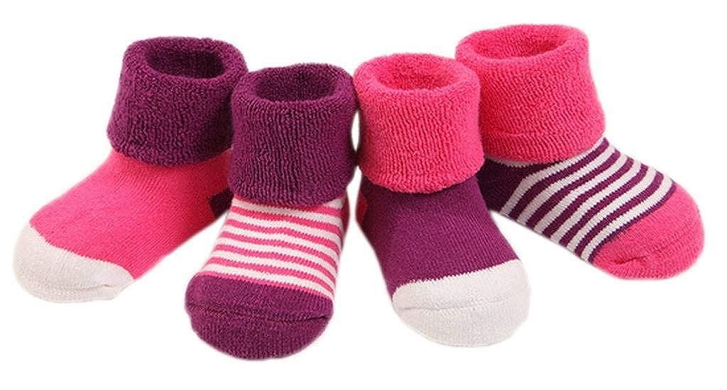 YiyiLai 4PCS Infant Baby Boys Girls Winter Cotton Terry Socks YiyiLai--HDAB1125270
