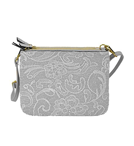 w Magnetic Lace Snaps Zippered Body White Cross Compartments Separate with 3 MoDA Trio Mobile zFwRq