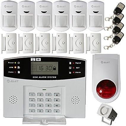 AIIAT - Alarma antirrobos inalámbrica XF LCD GSM de marcado ...
