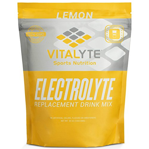 Vitalyte Electrolyte Powder Sports Drink Mix, 80 Servings Per Container, Natural Electrolyte Replacement Supplement for Rapid Hydration & Energy – Lemon