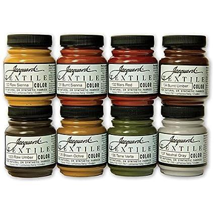 Jacquard Products Textile Color Paint Set, Earth Tones
