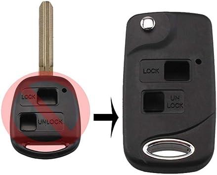 2 Button Remote Key Fob Shell Case Fit for TOYOTA Prado Tarago Camry Corolla NEW