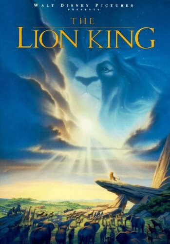 The Lion King Movie Poster 1 Sided Original Matthew Broderick