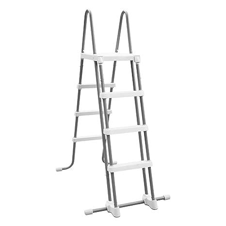 Intex 28076 - Escalera de seguridad para piscinas elevadas de altura 122 cm