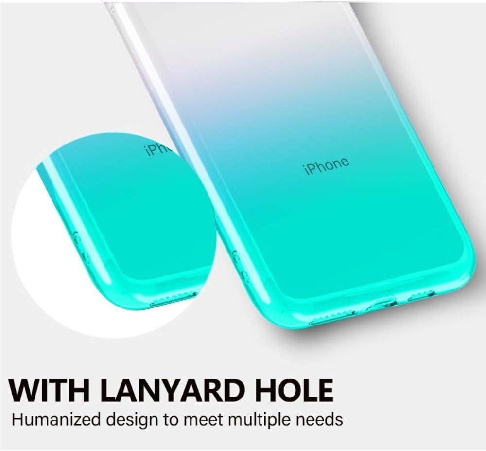 Oihxse Mode Cristal Coque Compatible pour iPhone 7 Plus//8 Plus Silicone Couleur de Degrade TPU Souple Etui Ultra-Mince Transparente Protection Anti-Rayures Housse Bumper Cover-Blanc Jaune