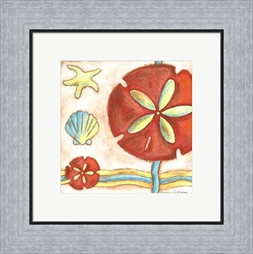 Nancy Slocum Pop - Pop Shells III by Nancy Slocum Framed Art Print Wall Picture, Flat Silver Frame, 16 x 15 inches