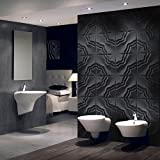 3D Decorative Panels Wall Forms 32.9 ft2/(12 Panels of 50×50 cm/19.6×19.6 in) (Star)