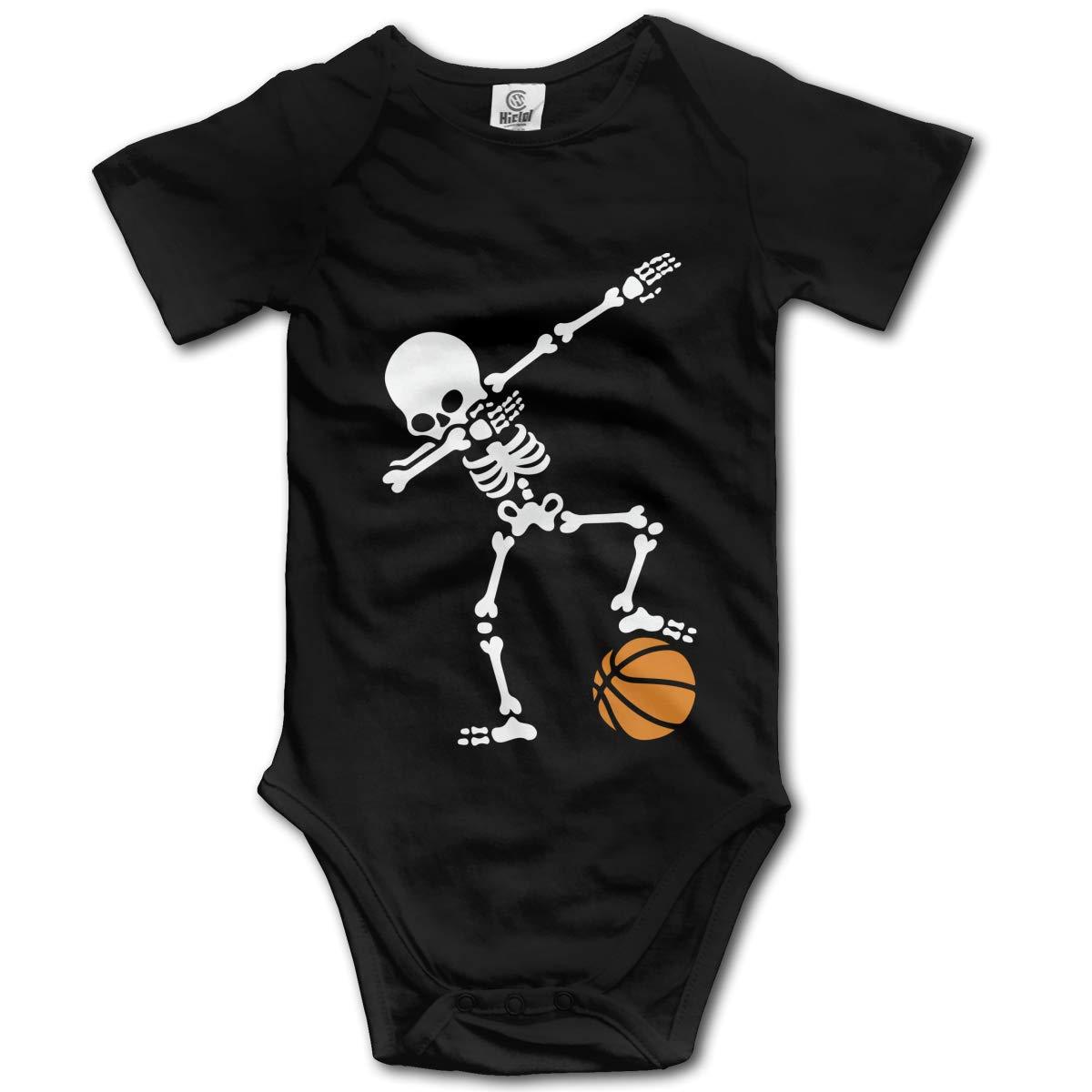 Dab Dabbing Skeleton Basketball Unisex Solid Baby 100/% Organic Cotton Romper Bodysuit Tops 0-24 Months