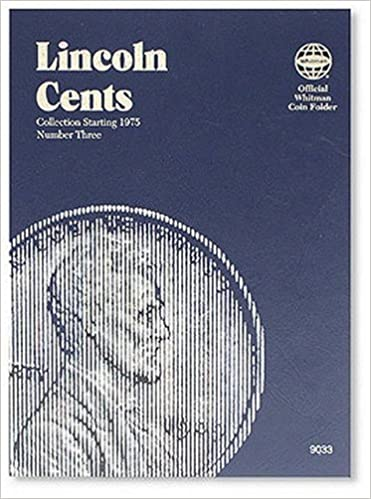 lincoln cents folder starting 1975 official whitman coin folder