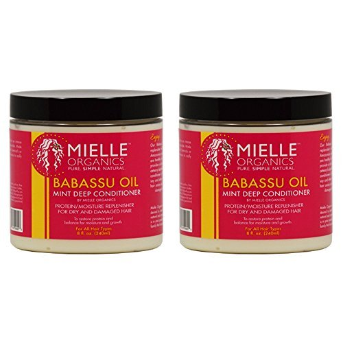 "Mielle Organics Babassu Oil Mint Deep Conditioner 8oz ""Pack"