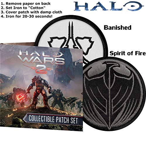 Easy Apply Halo Wars 2 Collectible Covenant Vs. UNSC Iron-On Patch Set (Halo Wars Vs Halo Wars Platinum Hits)