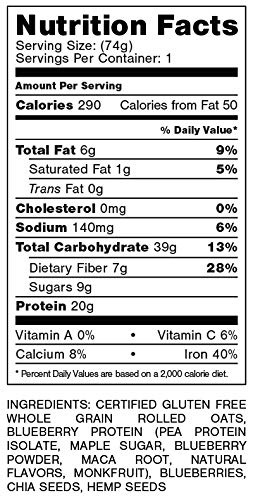 Oats Overnight 24 Pack Plant Based with BlenderBottle - Premium High-Protein, Low-Sugar, Gluten-Free (2.6oz per pack) by Oats Overnight (Image #7)