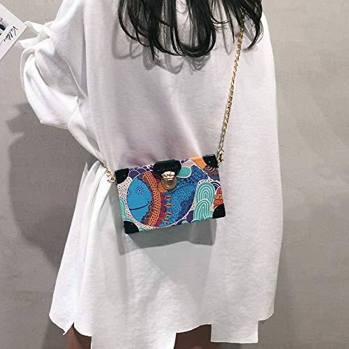 Chain Messenger 2018 Tote Hand Mini Wild Canvas The Personality Bag Pu Simple Bucket COFnUwqaZx