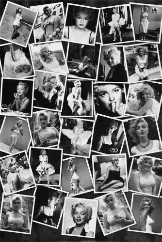 Marilyn Monroe. Black and White Collage. Photo Print Poster 11 7/ 1/8