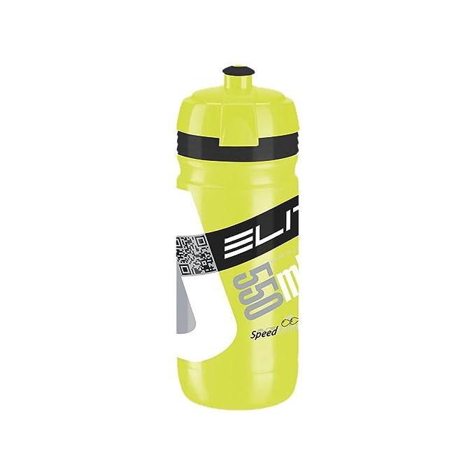 Elite Trinkflasche Corsa Bidón, Unisex Adulto, Transparente/Gris, 550 ML: Amazon.es: Deportes y aire libre