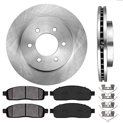 - [ 4WD ] FRONT 329.5 mm Premium OE 6 Lug [2] Brake Disc Rotors + [4] Metallic Brake Pads