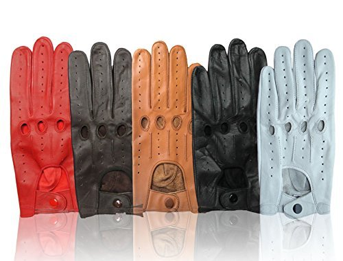 Mens Leather Driving Costume Cosplay Fashion Gloves Genuine Top Quality Leather-Free Returns