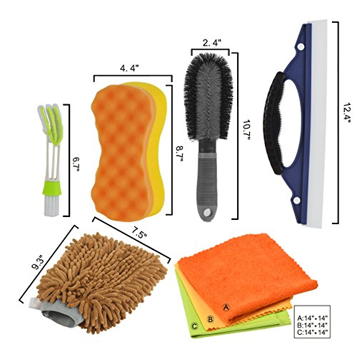Dedc Car Wash Tool Kit Exterior And Interior Cleaning Tools In Box Upgraded Car Vent Brush Tire