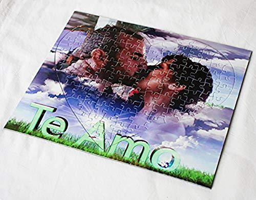 OyC Puzzle Corazon Personalizado con Foto, Imagen, Texto, Retrato, fotografia, Regalo, Parejas, Bonito 8