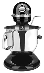 KitchenAid Certified Refurbished Bowl-Lift Stand Mixer RKSM6573OB, 6-Qt, Onyx Black