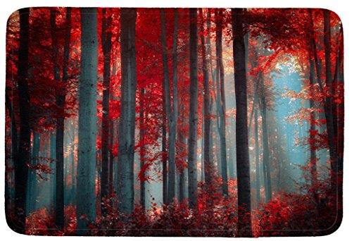 Wondertify Doormat, Landscape,Landscapes Forest Woods Leaves Fall Autumn Sunlight Indoor/Kitchen/Bathroom Mats Rubber Non Slip Door Mats 18