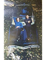 Supernatural Season Premiere with Jared Padalecki and Jensen Ackles Laying on Car 11 x 17 Poster Lithograph
