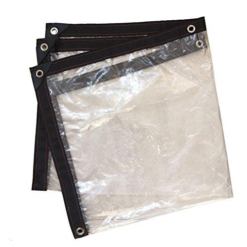 YnlYxl Plastic Transparent Tarpaulin, Waterproof Insulation Balcony Rainproof Safety for Odorless Garden Plant Shade Cloth,3m5m