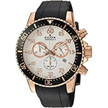 Edox Men's 'Chronorally-S' Quartz Stainless Steel and Rubber Sport Watch, Color:Black (Model: 10227 37RCA ABR)