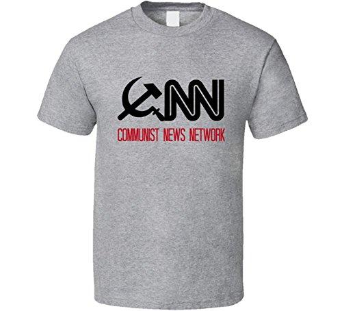 (CNN Communist News Network T-Shirt Fake News Media Novelty Clothing Tee Shirt XL Sport)