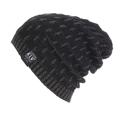 GBSELL Men Women Warm Crochet Winter Wool Knit Hat Beanie Slouchy Sport Running Ski Cap (Gray)