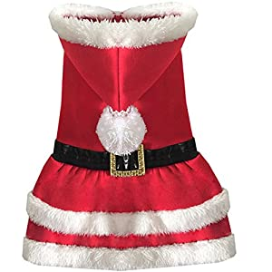 DUPET Pet Christmas Costumes Pet Clothes Suit Costume Christmas Outfits Dog Coat for Small Medium Dogs Puppy Holiday