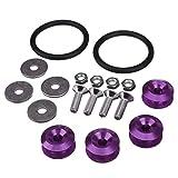 Bolt Loop - SODIAL(R) Purple Quick Release JDM Bumper Fender Trunk Fastener Screw Bolt Loop Ring Kit