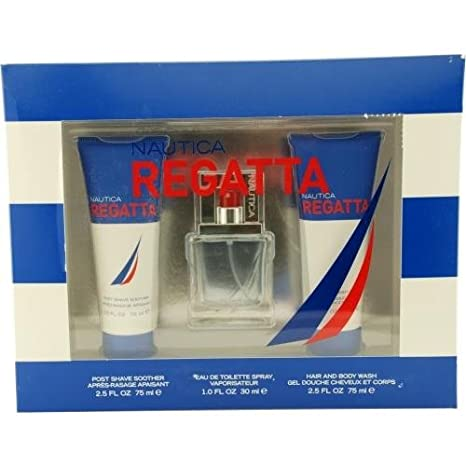 Amazon.com : Nautica Regatta By Nautica Gift Set For Men Edt Spray ...
