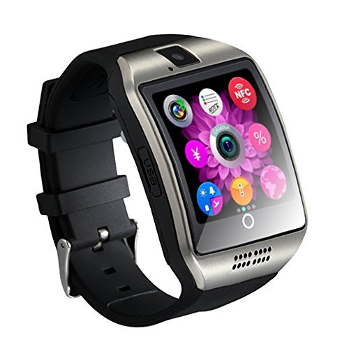 Heshi Inc SmartWatch Sweatproof Smart Watch Phone for Android HTC Sony Samsung LG Google Pixel /Pixel and iPhone 5 5S 6 6 Plus 7 Smartphones Silver