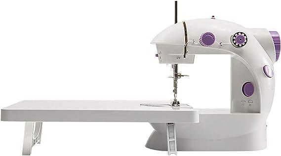 L.P Mini máquina de Coser con Mesa de extensión, máquina de Coser doméstica eléctrica con Patrones de Doble Hilo de Velocidad Ajustable Pie reemplazable con Pedal: Amazon.es: Productos para mascotas