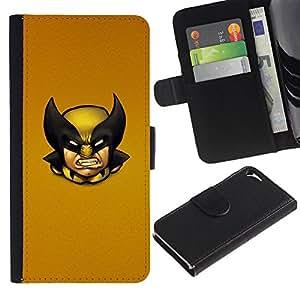 UNIQCASE - Apple Iphone 5 / 5S - Wolv Vintage X Superhero - Cuero PU Delgado caso cubierta Shell Armor Funda Case Cover