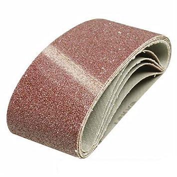 Silverline 836178 5 bandes papier de verre  65 x 410 mm Grain 60