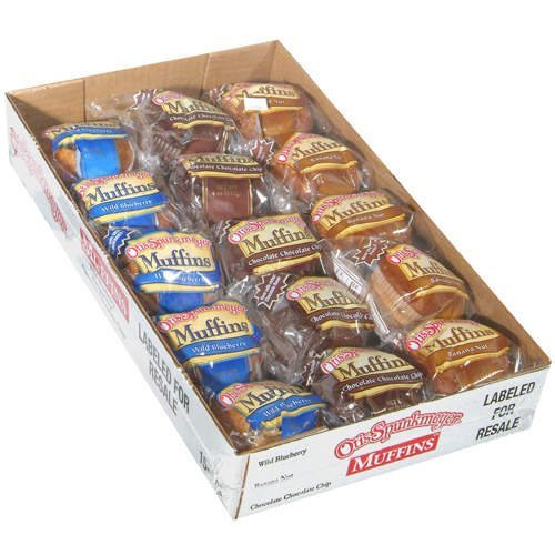 - Otis Spunkmeyer Muffins/10 Blueberry/10 Banana Nut/10 Chocolate Chip, 4 oz (Pack of 30)