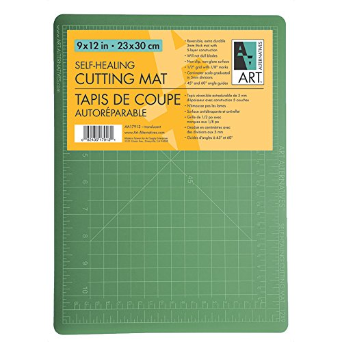 Art Alt Cutting Mat Green/Black 36X48OS2 by Art Alternatives